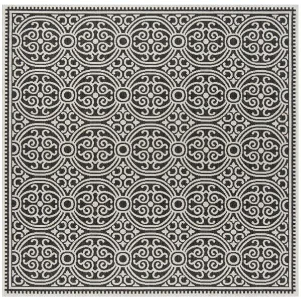 "Safavieh Linden Light Grey/ Charcoal Rug - 6'7"" x 6'7"" square"