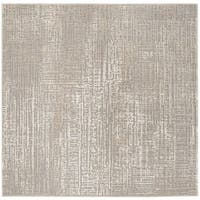 "Safavieh Meadow Ivory/ Grey Rug - 6'-7"" X 6'-7"" Square"