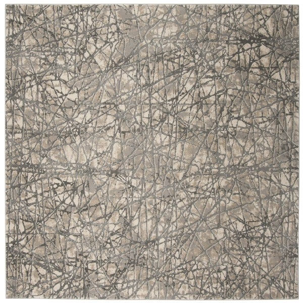 "Safavieh Meadow Beige/ Grey Rug - 6'7"" x 6'7"" square"