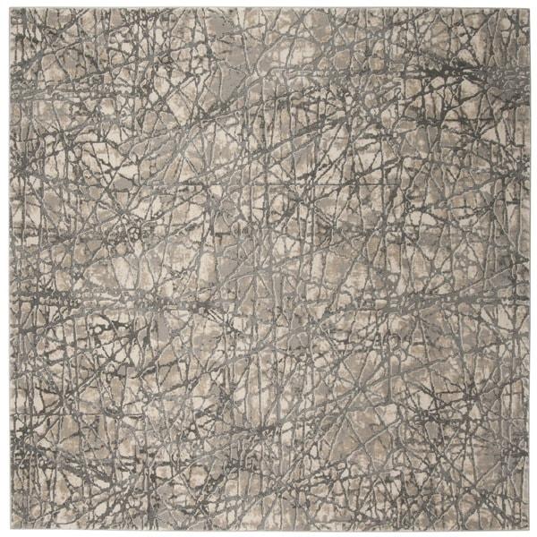 Safavieh Meadow Beige/ Grey Rug (6'7 Square)