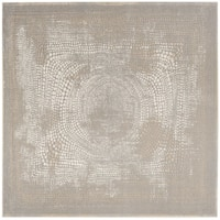 "Safavieh Meadow Ivory/ Grey Rug - 6'7"" x 6'7"" square"