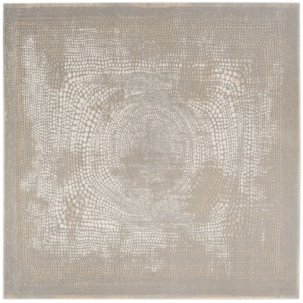 "Safavieh Meadow Ivory/ Grey Rug - 6'7"" x 6'7"" square"
