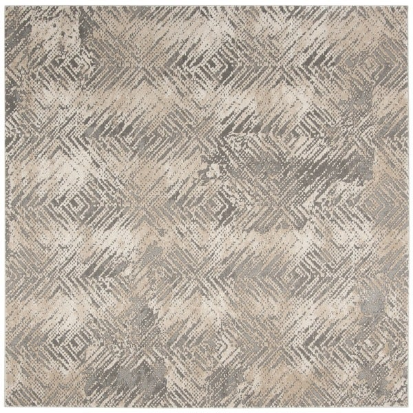 Safavieh Meadow Ivory/ Grey Rug - 6'7 Square