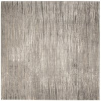 Safavieh Meadow Ivory/ Grey Rug (6'7 Square)