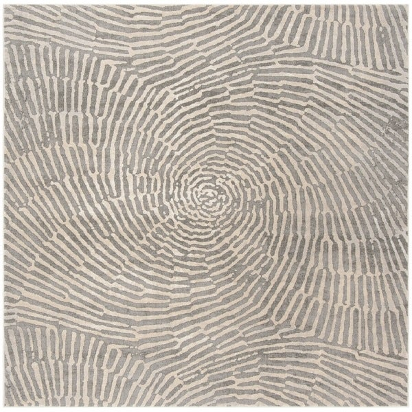 "Safavieh Meadow Taupe Rug - 6'7"" x 6'7"" square"