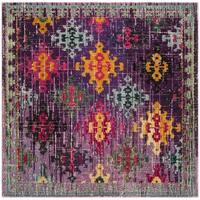 Safavieh Monaco Bohemian Purple/ Multi Rug - 6'7 Square