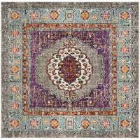 Safavieh Monaco Bohemian Violet/ Light Blue Rug - 6'7 Square