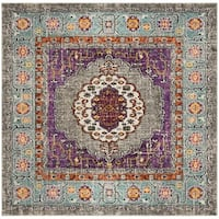 Safavieh Monaco Bohemian Violet/ Light Blue Rug (6'7 Square)