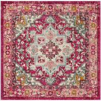 Safavieh Monaco Bohemian Fuchsia/ Light Blue Rug (6'7 Square)