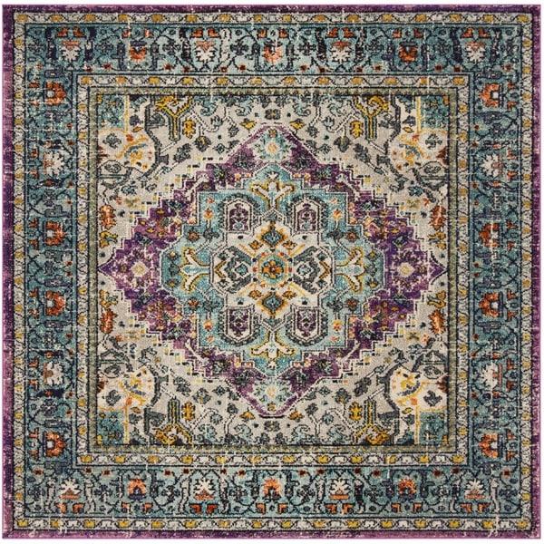 Safavieh Monaco Bohemian Violet/ Light Blue Rug - 6'7 Square
