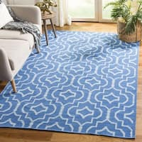 Safavieh Hand-Woven Montauk Blue/ Ivory Cotton Rug - 6' Square