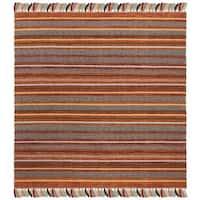 Safavieh Hand-Woven Montauk Rust/ Multi Cotton Rug - 6' Square