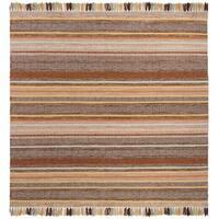 Safavieh Hand-Woven Montauk Brown/ Multi Cotton Rug - 6' Square