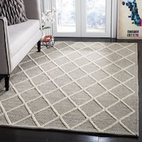 Safavieh Hand-Woven Natura Grey Wool Rug - 6' Square