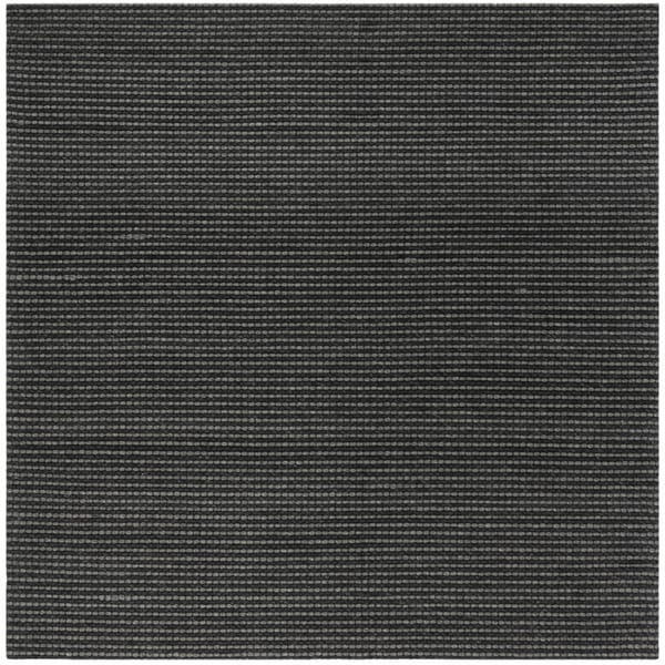 Safavieh Hand-Woven Natura Grey/ Black Wool Rug - 6' Square