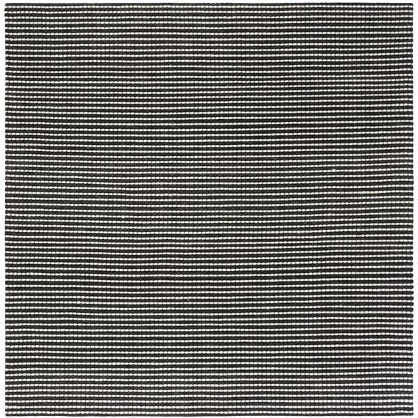 Safavieh Hand-Woven Natura Ivory/ Black Wool Rug - 6' x 6' Square