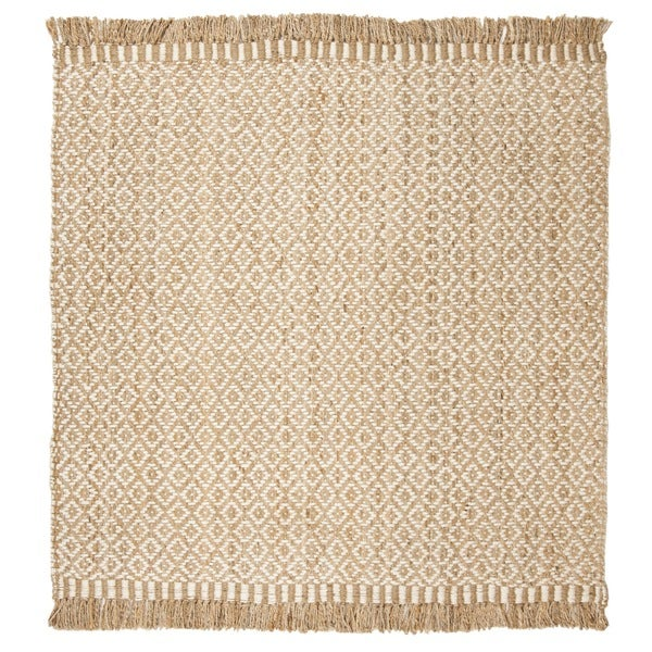 Safavieh Hand-Woven Natural Fiber Natural/ Ivory Jute Rug - 7' Square