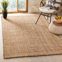 Safavieh Hand-Woven Natural Fiber Natural/ Brown Jute Rug - 7' Square