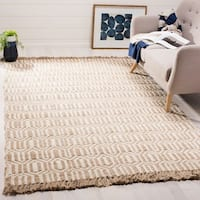 Safavieh Hand-Woven Natural Fiber Natural/ Ivory Jute Rug - 7' x 7' Square