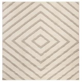 Safavieh Olympia Shag Cream/ Beige Polyester Rug (6'7 Square)