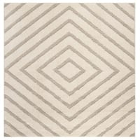 Safavieh Olympia Shag Cream/ Beige Polyester Rug - 6'7 Square