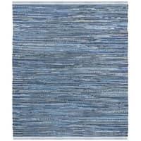 Safavieh Hand-Woven Rag Rug Bohemian Blue/ Multi Cotton Rug - 6' Square