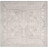 "Safavieh Reflection Light Grey/ Cream Polyester Rug - 6'7"" x 6'7"" square"