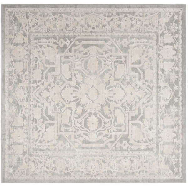 Safavieh Reflection Light Grey/ Cream Polyester Rug - 6'7 Square