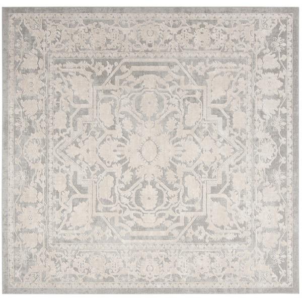 Safavieh Reflection Light Grey/ Cream Polyester Rug (6'7 Square)
