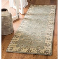 Safavieh Handmade Royalty Slate/ Cream Wool Rug - 7' x 7' Square