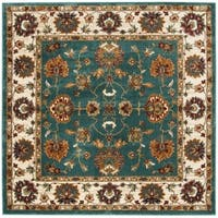 Safavieh Summit Teal/ Ivory Rug - 6'7 Square