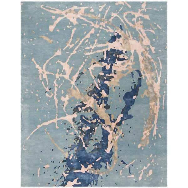 Safavieh Handmade Soho Blue/ Light Pink Viscose Rug - 6' Square