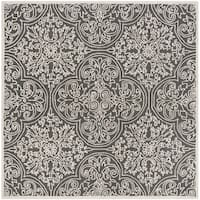 Safavieh Handmade Trace Dark Grey/ Light Grey Wool Rug - 6' Square