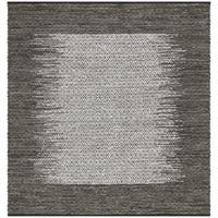 Safavieh Hand-Woven Vintage Leather Light Grey/ Grey Leather Rug - 6' x 6' Square
