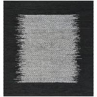 Safavieh Hand-Woven Vintage Leather Light Grey/ Black Leather Rug - 6' Square