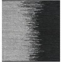 Safavieh Hand-Woven Vintage Leather Light Grey/ Black Leather Rug - 6' x 6' Square