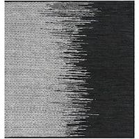 Safavieh Hand-Woven Vintage Leather Light Grey/ Black Leather Rug - 6' Square