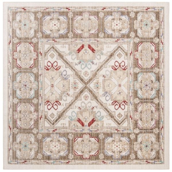 Safavieh Windsor Vintage Ivory/ Brown Cotton Rug - 6' Square