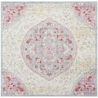 Safavieh Windsor Vintage Light Grey/ Blue Cotton Rug - 6' x 6' Square