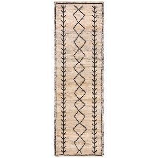 Safavieh Hand-Woven Bohemian Ivory/ Black Jute Rug (2'6 x 8')