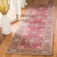 Safavieh Classic Vintage Red/ Multi Cotton Rug - 2'3 x 8'