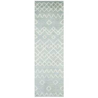 Safavieh Handmade Casablanca Blue/ Ivory Jute Rug (2'3 x 8')