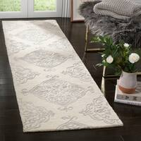 Safavieh Handmade Glamour Ivory/ Silver Viscose Rug - 2'3 x 8'