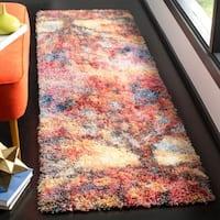 Safavieh Gypsy Bohemian Rust/ Blue Polyester Rug - 2'3 x 8'