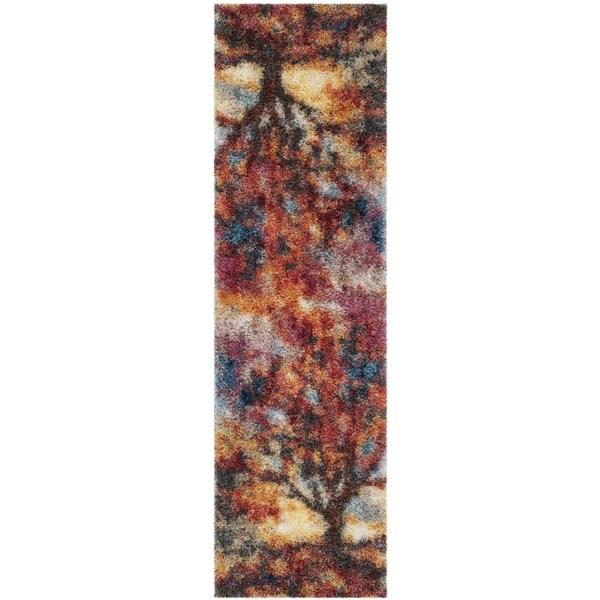 Safavieh Gypsy Bohemian Rust/ Blue Polyester Rug (2'3 x 8')