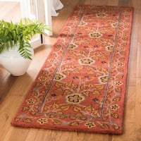 Safavieh Handmade Heritage Red/ Multi Wool Rug - 2'3 x 8'