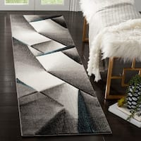 "Safavieh Hollywood Grey/ Teal Rug - 2'3"" x 8'"