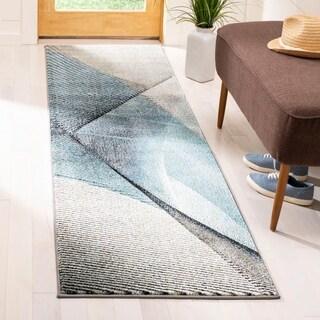 Safavieh Hollywood Grey/ Teal Rug (2'2 x 8')