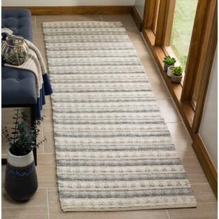 Safavieh Hand-Woven Natura Grey/ Ivory Bamboo Silk Rug (2'3 x 8')
