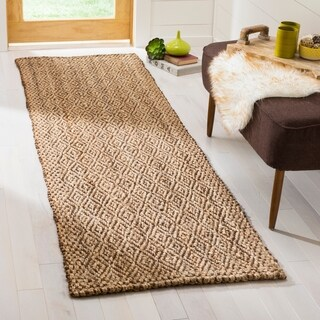 Safavieh Hand-Woven Natural Fiber Natural/ Brown Jute Rug - 2'3 x 8'